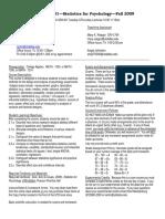 UT Dallas Syllabus for psy2317.001.09f taught by Nancy Juhn (njuhn)