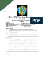 UT Dallas Syllabus for rhet1101.007.09f taught by Anahita Dutia (axd050200)