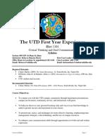 UT Dallas Syllabus for rhet1101.009.09f taught by Rebecca Duncan (rld034000)