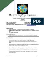 UT Dallas Syllabus for rhet1101.014.09f taught by Yolande Porter (yolande)