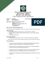 UT Dallas Syllabus for rhet1101.031.09f taught by Matthew Polze (mmp062000)