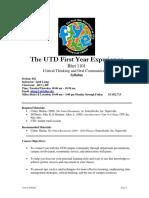 UT Dallas Syllabus for rhet1101.042.09f taught by April Liang (aliang)