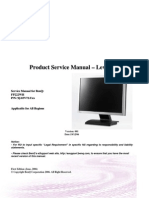 BenQ FP222WH Product Service Manual Level 2 Version 001