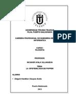 MONOGRAFIA LA  EPISTEMILOGIA DE POPPER.doc