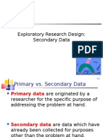 Exploratory Research Design Secondary Data