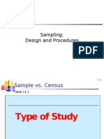 Sampling Design and Procedures