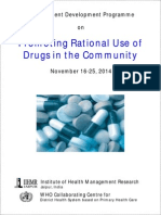 Promoting Rational Use of Drugs in the Community November 16-25, 2014