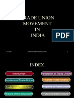 Trade Union Movement in India Lecture