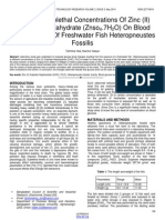Effects of Sublethal Concentrations of Zinc II Sulphate Heptahydrate Znso47h2o on Blood Glucose Level of Freshwater Fish Heteropneustes Fossilis