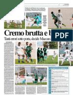 La Provincia Di Cremona 06-10-2014 - Calcio Lega Pro