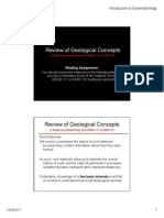 Review of Geological Concepts 2014Fall