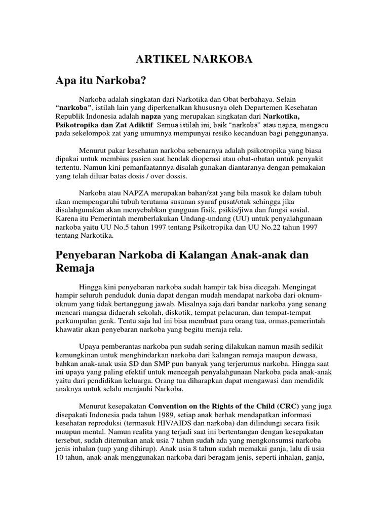 Artikel Narkoba Docx