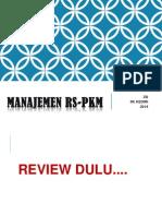 Pengantar Manaj PKM-RS