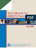 AASHTO Style Manual