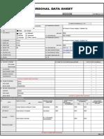 Personal Data Sheet (PDS)
