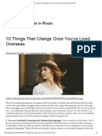 10 Things That Change Once You'Ve Lived Overseas _ Taking Route