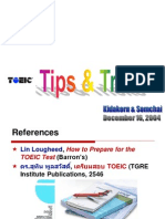 TOEIC Tips and Tricks