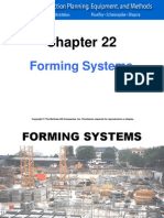 Chapter 22 - Formwork System