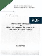 Intructiuni tehnologice de lucru sub tensiune in instalatiile de joasa tensiune