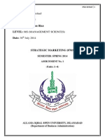 Strategic Marketin Management 1