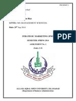 Strategic Marketin Management 2
