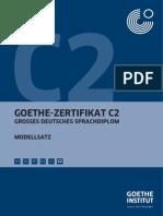 Goethe Zertifikat C2 ModelTest
