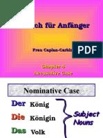 Tutorial on German Accusative verbs