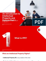 An Introduction to Intellectual Property and Patents Part i