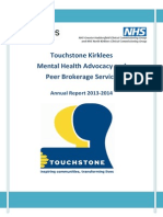 Touchstone Kirklees Mental Health Advocacy and  Peer Brokerage Service Annual Report 2013-2014