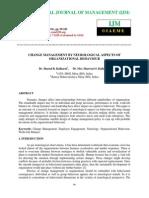 Change Management by Neurological Aspects of Organizational Behaviour