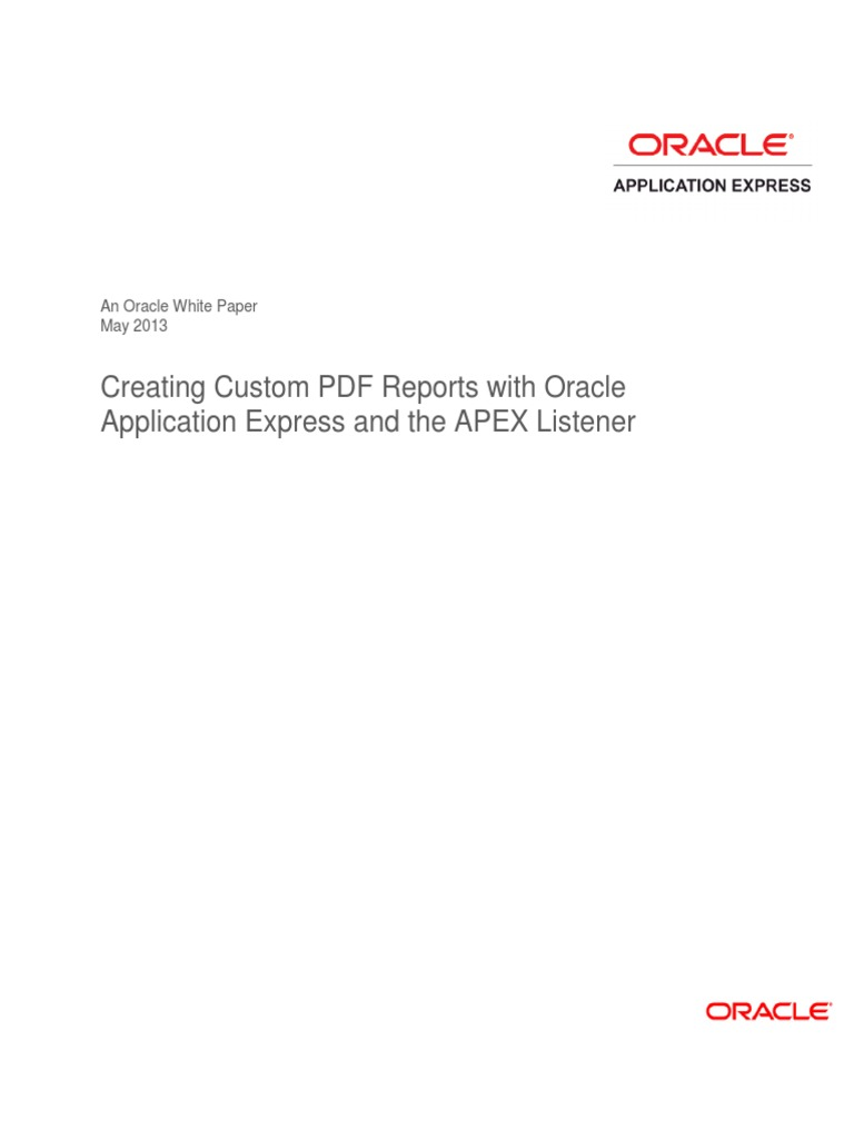 Oracle Apex Interactive Report Pdf