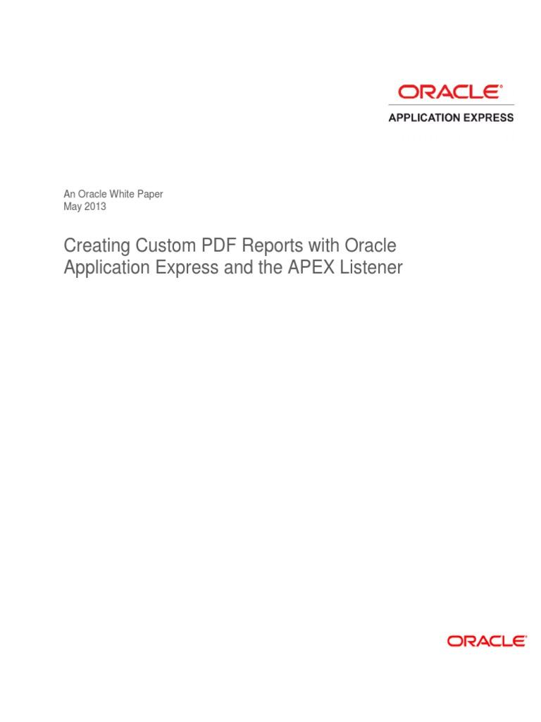 Oracle Apex Interactive Report Pdf