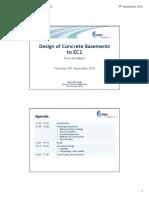 Design of Concrete Basements to EC2 Rev C