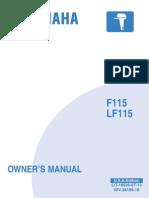 yamaha outboard f115 service repair manual motor oil throttle rh es scribd com yamaha f115 aetl service manual yamaha 115 aetl manual
