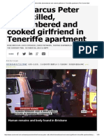 Chef Marcus Peter Volke Killed, Dismembered and Cooked Girlfriend in Teneriffe Apartment _ the Courier-Mail