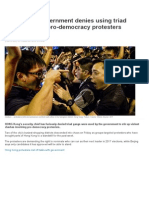 Hong Kong Government Denies Using Triad Gangs Against Pro-Democracy Protesters