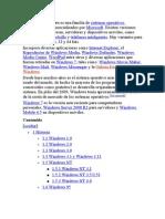 Evolucion de S.O.windows y Unix