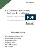 BCM Continuous Improvement
