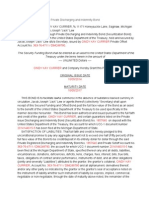 Private Discharging & Indemnity Bond