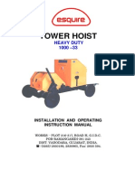 Esquire Builders Hoist Opt & Maint Manual