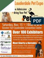 2014Fort Lauderdale Pet Expo Flyer