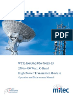 Miteq High Power Transmitter Manual - Operations and Service - 1