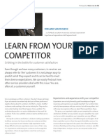 Learn From Your Competitor, Cribbing in the battle for customer satisfaction