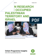 Action Research in the Occupied Palestinian Territory and Israel