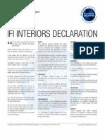 IFI Interiors Declaration