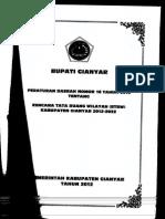 Perda Nomor 16 Tahun 2012 Tentang Rencana Tata Ruang Wilayah (RTRW) Kabupaten Gianyar Tahun 2012 - 2032_222029