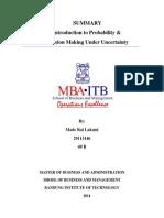 Exercise 2. Probability & Utility