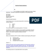 ECE Core Company Entrance Exam Questions