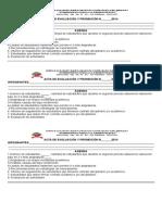 Acta Comisiones de Evaluacion 2014