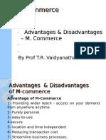 Adv & Disadv of m commerce